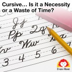 Beginning cursive instruction paper