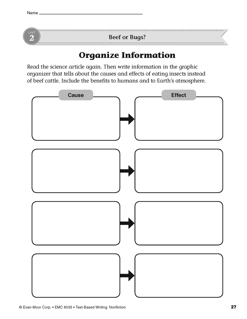 compare and contrast graphic organizer for citing textual evidence