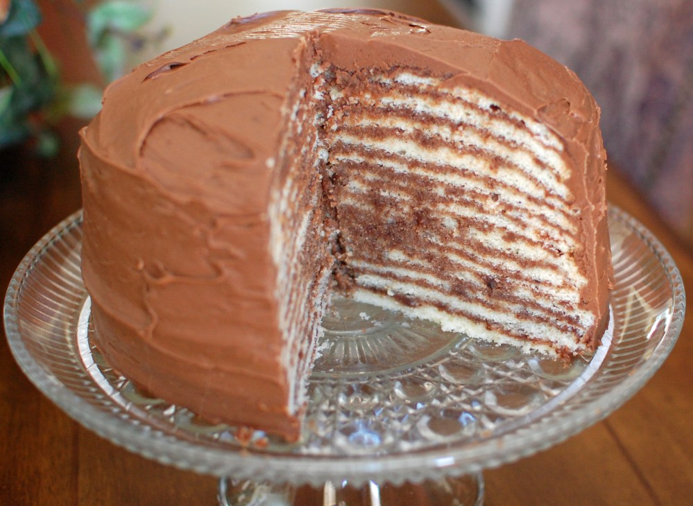 14 Layer Chocolate Cake for Valentine's Day (1/6)