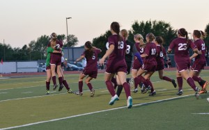 Celebration time!!  We won this game on the 20th shooter in penalties!