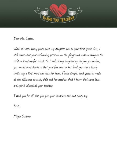Medium Of Thank You Letter For Gift
