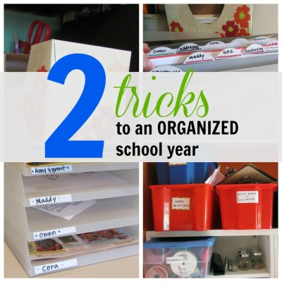 tricks to an organized school year cover