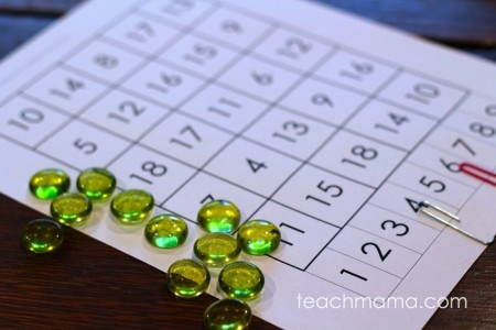 4 sums in a row: quick & easy math game | super summertime game for pool bags or car rides from teachmama.com