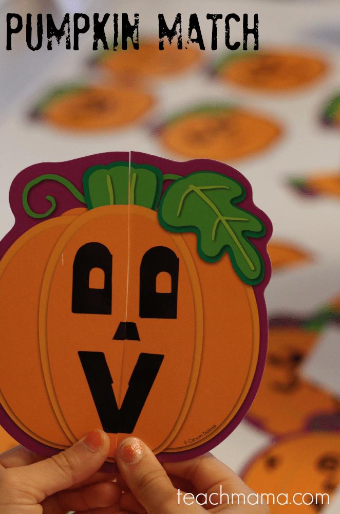 pumpkin match game | teachmama.com