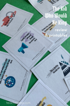 the kid who would be king: review & free printables