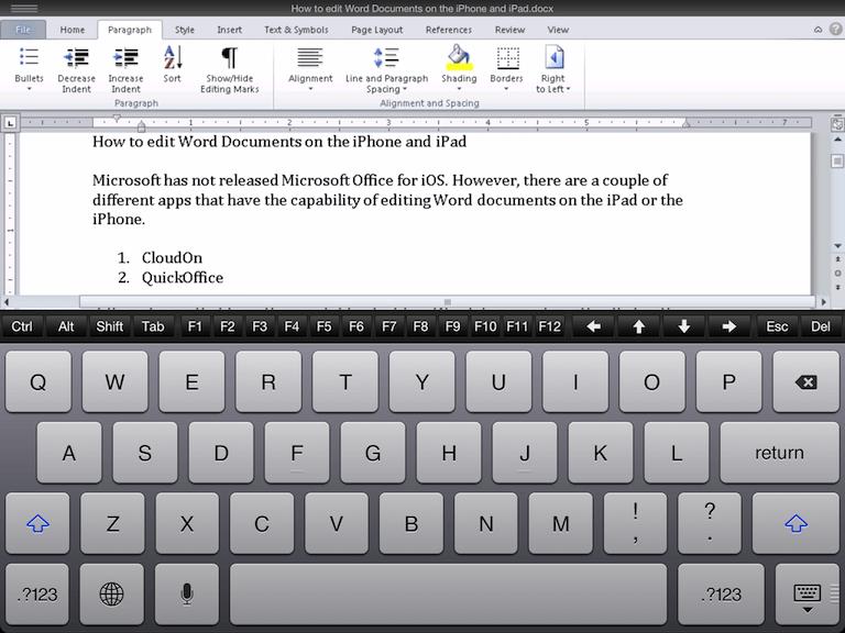 приложение word для ipad - фото 11