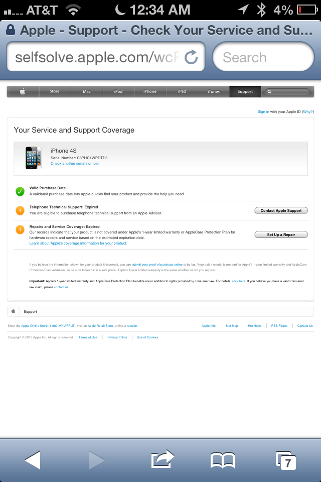 How to check warranty status of iPhone, iPad (Mini), iPod Touch