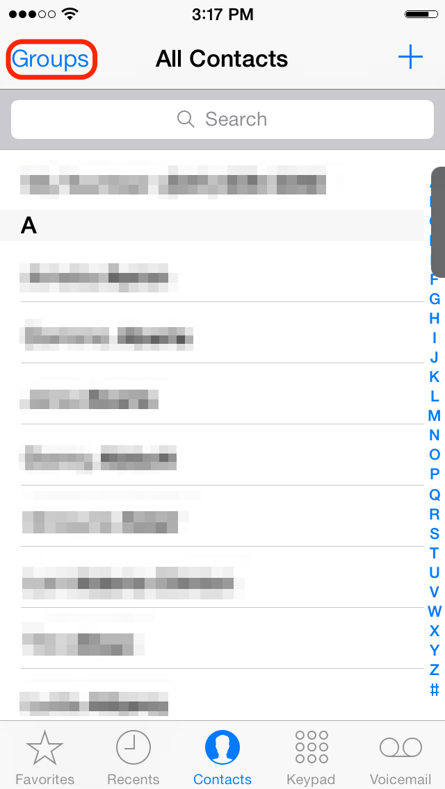 i can t edit iphone cloud contacts or groups how to