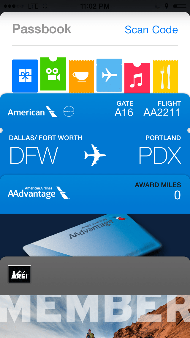 How to use airplane boarding passes in Passbook for iPhone