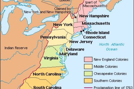 Map Of The Thirteen Colonies With Rivers - Map of us 1763