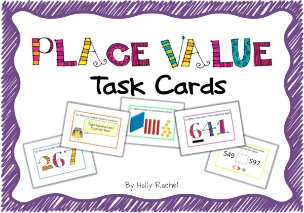 Place value classroom activities task cards