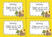 setting guided reading question cards