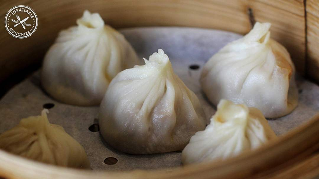 A basket of shanghai xiao long bao from Taste of Shanghai