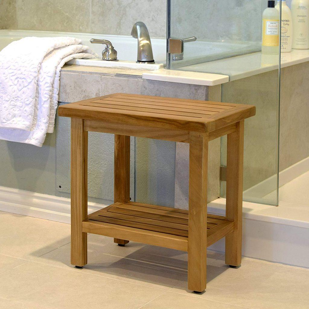Fullsize Of Teak Shower Stool