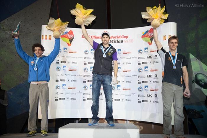 Kilian Fischhuber bouldert zum ersten Saisonsieg
