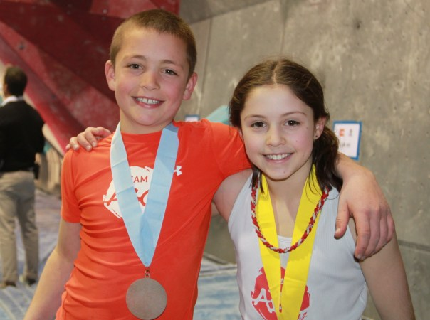 Liam and Ariana O'Brien Team ABC Boulder 2013 ABS 14 Youth Nationals