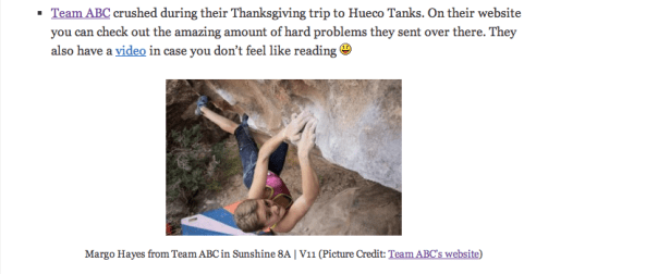 from the On Bouldering Weekly Digest