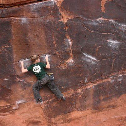Cody Stevenson Moab Utah Bouldering Team ABC Boulder
