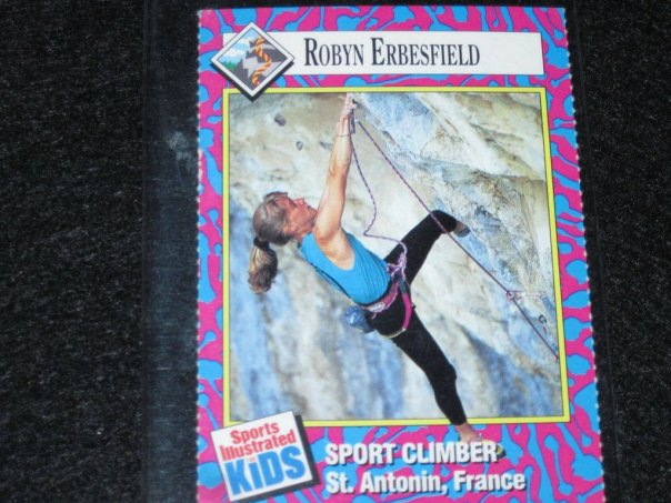 Robyn Erbesfield Raboutou Trading Card Climber