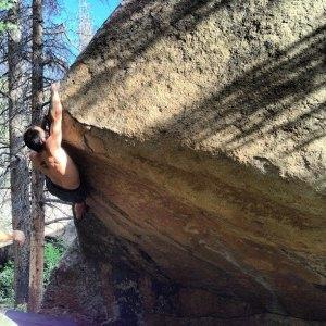 Ryan in RMNP Bouldering