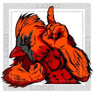 Cardinal Mascot Clipart Vector Graphic Image