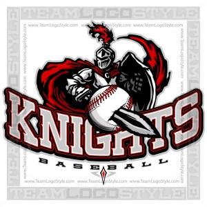 Knights Baseball Logo - Clipart Image