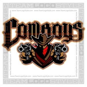 Cowboys Team Logo - Vector Clipart Image