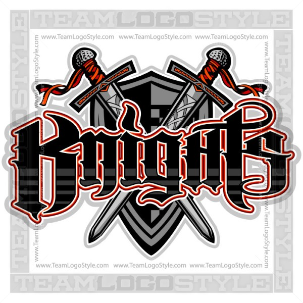 Knights Team Logo - Vector Clipart Image