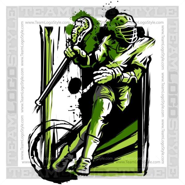 Lacrosse Vector Art - Sports Clipart