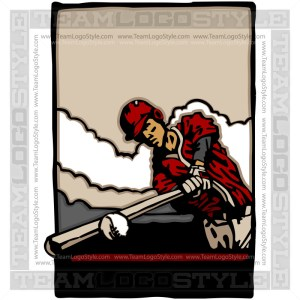 Baseball Shirt Artwork Vector Clipart Image