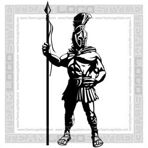 Trojan Mascot Logo - Vector Clipart Graphic