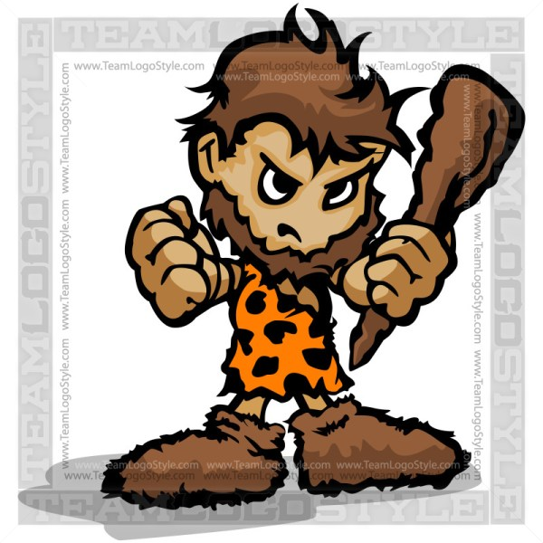 Caveman Cartoon - Vector Clipart Graphic