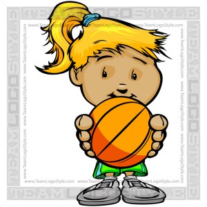 Girl Basketball Cartoon