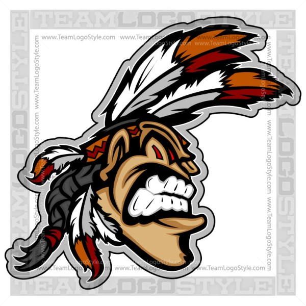 Indian Mascot - Vector Clipart Graphic