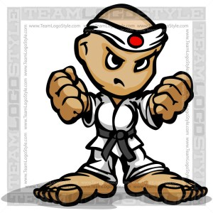 Martial Arts Cartoon - Vector Clipart Cartoon