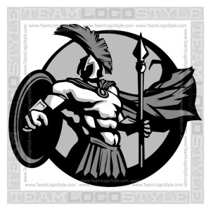 Trojans Team Logo - Vector Clipart Graphic