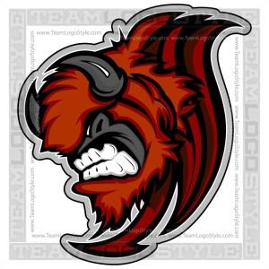 Buffalo Team Logo - Vector Clipart Graphic