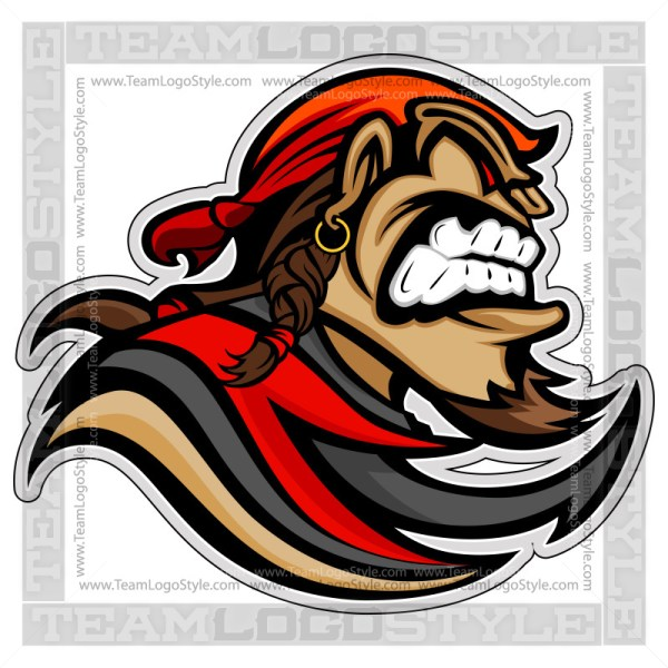 Pirate Mascot - Vector Clipart Graphic