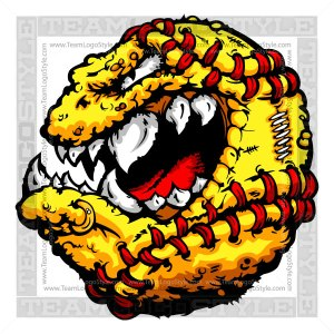 Fastpitch Softball Creature Logo