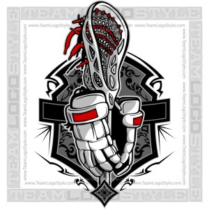 Lacrosse Gloves and Stick Clipart Image