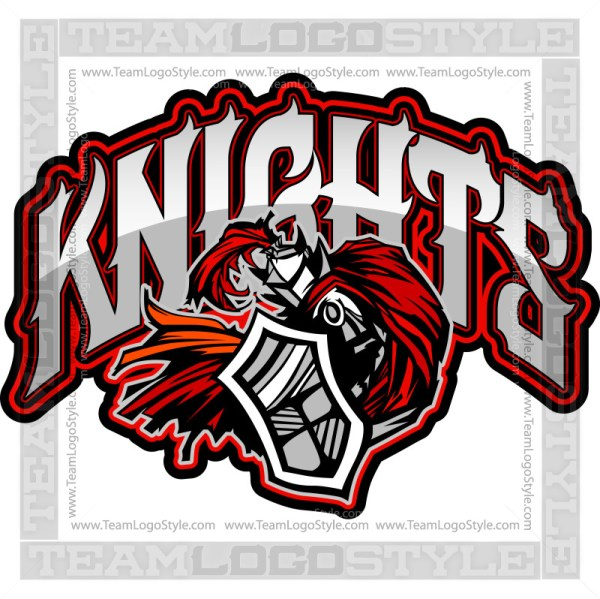 Knights Team Logo - Vector Clipart Graphic