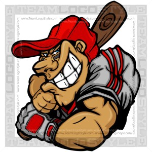 Baseball Cartoon Clipart Vector Image