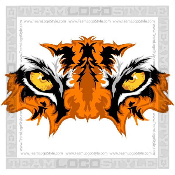 Tiger Mascot Graphic - Eyes Graphic Image