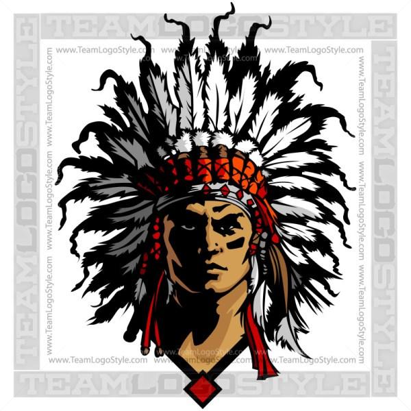 Chief Mascot - Vector Clipart Graphic