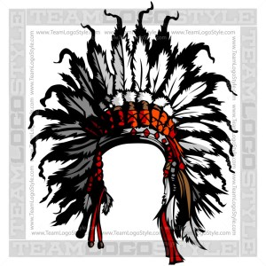 Indian Headress Clipart - Vector Mascot Graphic