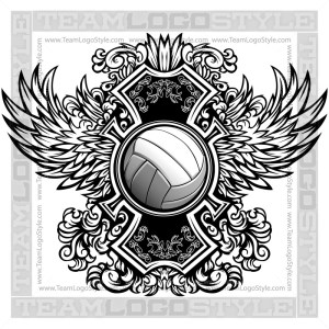 Volleyball Shirt Design in Vector Format