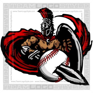 Titan Baseball Graphic - Vector Clipart Design