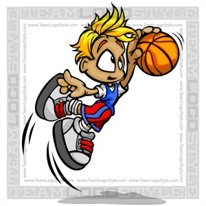 Boy Basketball Cartoon Vector Cartoon Image