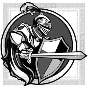 Knight Graphic - Vector Mascot Clipart