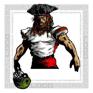 Pirate Mascot Football